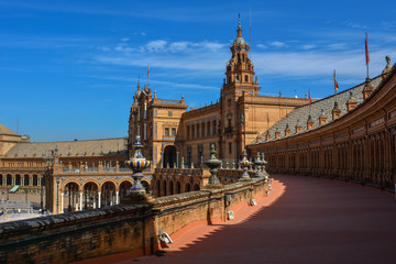 Spain Andalusia Sevilla Plaza de Espana