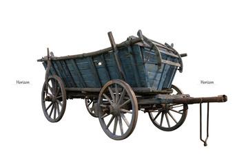 alter Holzwagen freigestellt