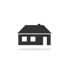 House icon illustration. Home sign isolated on white background