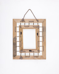 simple old rustic wooden frame