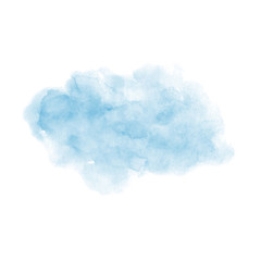 Hand painted blue vector soft texture isolated on the white background. Usable for cards, invitations and more.