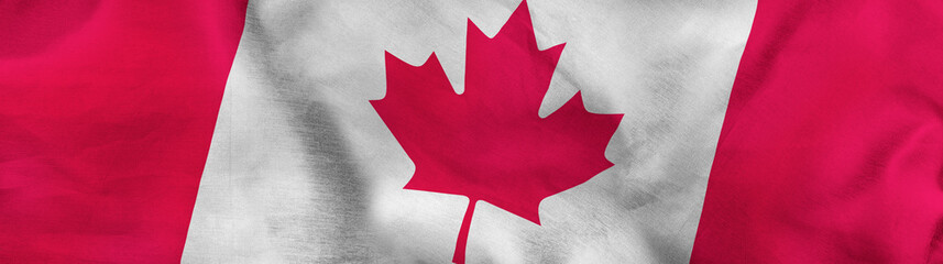 Papiers peints Canada image of canada flag close up