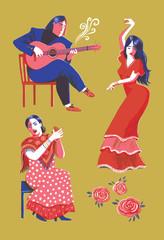 Flamenco guitarist, dancer and singer