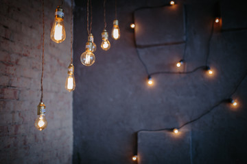 the light bulbs are placed around the apartment, light creates a cozy atmosphere