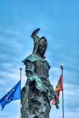 Statue Santa Lucia am Bahnhof in Venedig