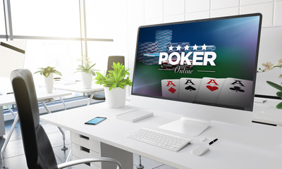 computer office poker online