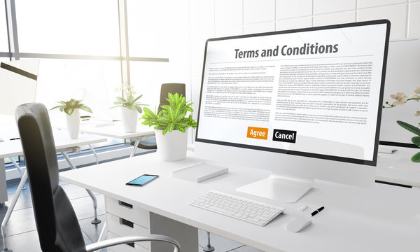 computer office terms and conditions website
