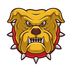 Bulldog Dog Cartoon Illustration Mascot Icon Logo Vector