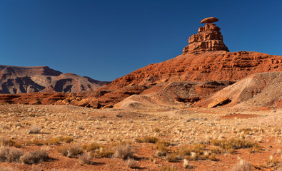 The Mexican Hat rock , Utah. USA