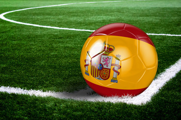Spanish Soccer Ball on Field at Night