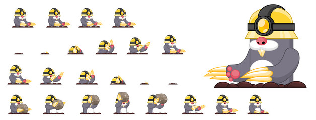 Mole Animated Game Character