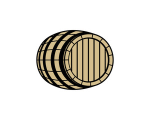 Barrel Illustration Hand Drawing Logo Vector
