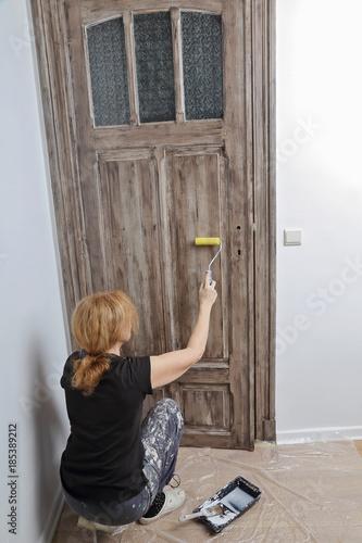 patine peinture porte intrieur dcoration maison