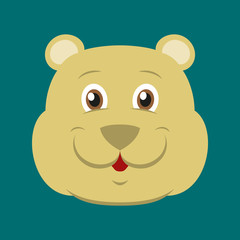 flat icons on theme funny animals bear