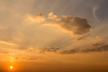 Landscape photo sunset sky