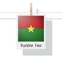 African country flag collection with photo of Burkina Faso flag , vector , illustration