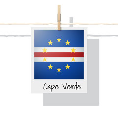 African country flag collection with photo of Cape Verde flag , vector , illustration