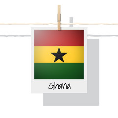 African country flag collection with photo of Ghana flag , vector , illustration