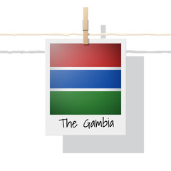 African country flag collection with photo of The Gambia flag , vector , illustration