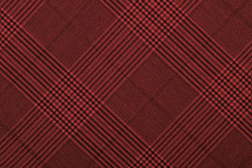 Red material into grid, a background or texture