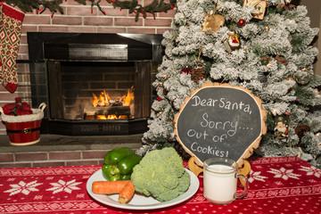 A Healthy snack for Santa on Christmas Eve.