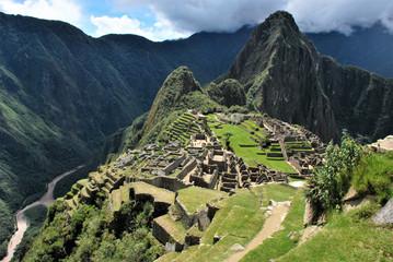 Scenic view in Machu Picchu in the Cuzco region, Peru