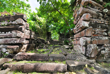 Nan Madol - archaeological site on the island of Pohnpei,  Federated States of Micronesia