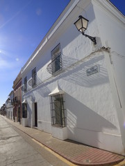 Villanueva del Fresno. Pueblo de Badajoz en Extremadura, España