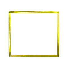 Yellow watercolor grunge frame