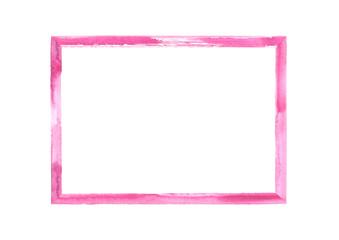 Magenta pink watercolor grunge frame