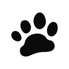 Dog paw print . Paw icon.
