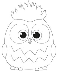 Cute baby boy owl black and white poster