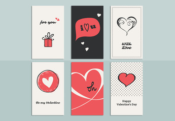 Romantic Greeting Card Set