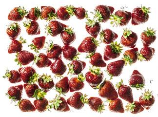 Fresh strawberries against light background