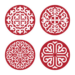 Traditional ornament of Asian nomads