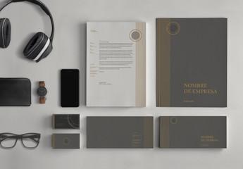 Conjunto de papelería elegante