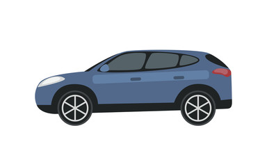Clip art blue car, vector