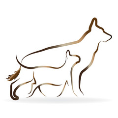 Logo Dog and cat