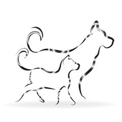 Cat and dog logo