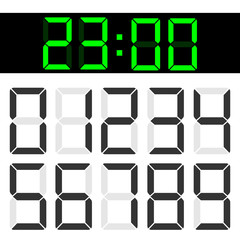 Creative vector illustration of calculator liquid crystal digital numbers isolated on background. Lcd electronic screen. Art design. Clock timer. Abstract concept graphic element