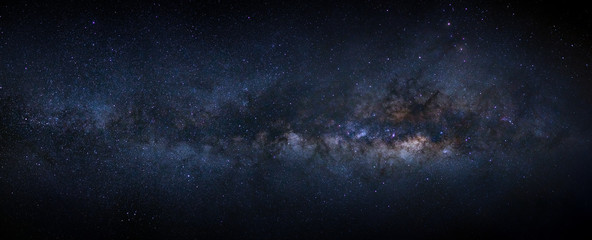 Fotorolgordijn Heelal Panorama milky way galaxy with stars and space dust in the universe