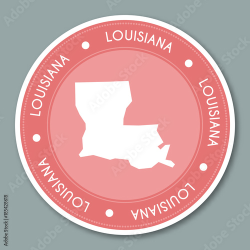 Louisiana label flat sticker design. Patriotic US state map ... on beer brand map, beer bottle map, beer chart map,