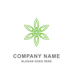 Green Leaf Nature Organic Agriculture Logo Vector