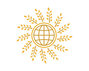 globe wheat icon