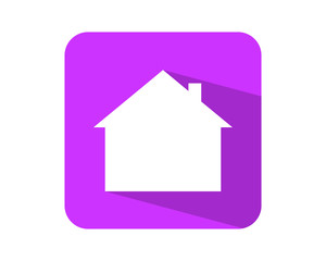 purple house housing home residential residence image icon