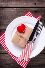 St. Valentine Day table setting.