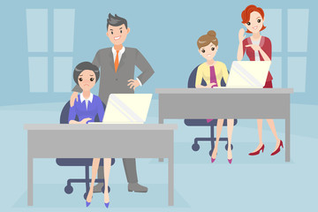 business people with bullying problem