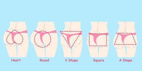 different butt shape