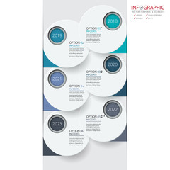 Vector abstract element infographics 6 option. Design for business or finance template layout, brochure, workflow, information or presentation and other. Can add infodata and icon. Abstract 3D vector.