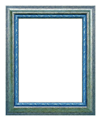 Antique silver and blue frame